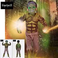 Hulk Vestito Costume Carnevale Bambino Boy Cosplay Costumes Dress Up SUP001