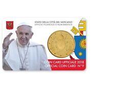 ** Coincard 2018 Vaticaan Vatikan Vatican Vaticano City Coincard No.9 50 cents**