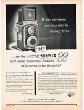 1954 Graflex 22 TLR Camera Medium Format Vtg Print Ad