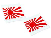 JAPANESE RISING SUN Classic Retro Car Motorcycle Decals Stickers