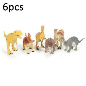 6pcs Large-sized Dinosaur Set Jurassic Animal Action Figures Kids Toys N