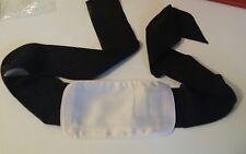 Spoylt Champagne Cream White & Black Infatuation Hand Silk Cuffs BNWT Gift Bag