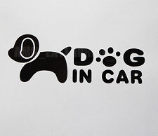 Dog in Car Decal Black Sticker Vinyl Badge for Fiat Qubo Doblo Bravo Idea Abarth