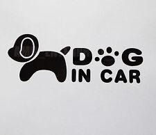 Dog in Car Decal Black Sticker Vinyl Badge for Fiat Qubo Doblo Bravo Idea Abarth
