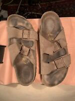 Birkenstock Arizona Taupe Soft Suede Sandals 39 Germany Good Condition! 8.5