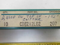 Ingersoll CDE212L02 207 Carbide Insert Grade 207 Box of 9pcs