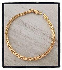 Bracelet Maille Palmier Plaqué Or 18 carats 20 cm  Bijoux Femme