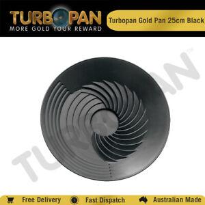 TURBOPAN 25CM  PLASTIC GOLD PAN PROSPECTING PANNING SLUICE -BLACK