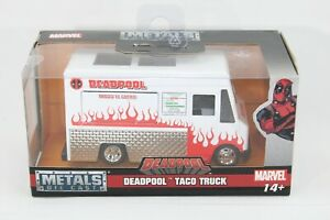 """""""NEW"""" Hollywood Rides: Deadpool Food Truck (White) 1/32 Scale"""
