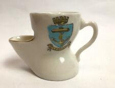 More details for vintage crested china shaving scuttle pot st leonards florentine china