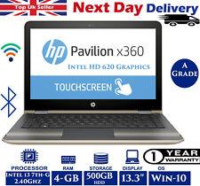 "HP Pavilion x360 13-u100na 13.3"" Touch Laptop Intel 7th-Gen i3 4GB RAM 500GB HDD"