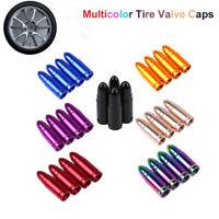 4Pcs/set Aluminum Bullet Car Truck Air Port Cover Tire Rim Valve Wheel Stem Caps