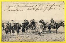 cpa France ARCACHON (Gironde) Enfants Promenade à DOS d'ANES Cavalerie Pacifique