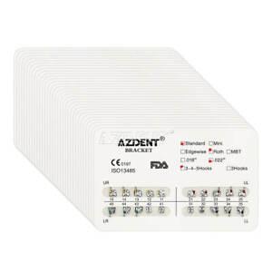 22 Packs Dental Orthodontic Brackets Brace Standard Roth 022 3 4 5Hooks