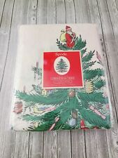Spode Christmas Tree Jacquard Fabric Shower Curtain 72x72 inches -  New