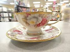 SHAFFORD Hand Painted GOLD TRIM  Tea cup and saucer From Japan .FOIL TAGS