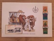 PORTUGAL 1982 BOOKLET FDC BULL CART RARE