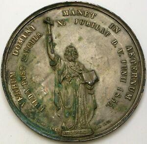 FULDA (German City) Fulda Post Saecula XI. Juibilat D.V. 1855 Medal - Tin *