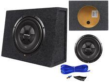 "Rockford Fosgate R2SD2-12 12"" Shallow Car Audio Subwoofer+Slim Sub Box Enclosure"