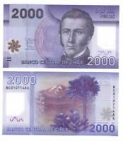 CHILE Polymer UNC 2000 Pesos Banknote (2013) P-162c Paper Money