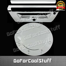 2015-Up Ford F150 Trunk Tailgate Handle W/CamHole+GasTank Fuel Door Chrome Cover