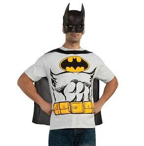 Adult Batman T-Shirt, Cape, & Mask Halloween Costume Kit - 42-44 Large #6613