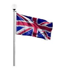 FLAGPOLE SOLAR GLOBE BALL LIGHT - FOR 20 FT FLAG POLE - Union Jack - England