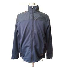 RLX Ralph Lauren Men Size L BLue Fleece Jacket Nylon Overlay Shoulders Full Zip