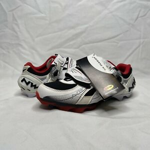 NWT NorthWave White Cycling Shoes AirFlow System Carbon Reinforcement Men's 9