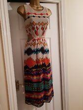 Beautiful Zara Tribal Midi Cut Out Printed Dress Size L