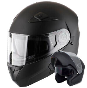 Klapphelm 906 Helm Integralhelm Rollerhelm schwarz matt Motorradhelm S M L XL