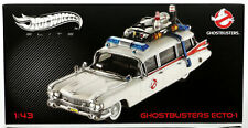 Hot Wheels Ghostbusters Ecto-1 Elite Series #W1194 New NRFB 2011 White 1:43
