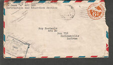 WWII censor cover Lt William Haeberle I&E Base A APO 928 Milne Bay New Guinea