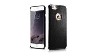 iPhone 6/6S Leather Case Transformer Vintage Back Cover Black