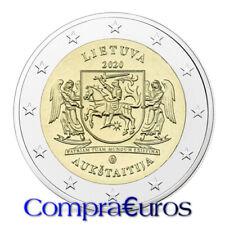 2 Euros Conmemorativos Lituania 2020 *Región de Aukstaitija* Sin Circular