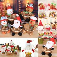 Christmas Santa Snowman Candy Basket Storage Jar Sweet Box Jar Ornament  Decor