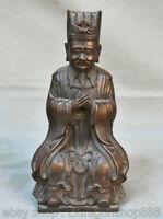 """10 """"Ministre chinois du Palais de la Dynastie en Bronze Rouge au Civil Sculpture"""