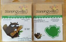 Stamping Bella - Oddball Beaver rubber stamp and die set cute funny