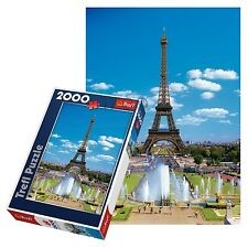 Trefl 2000 piece adulte grand tour eiffel paris france sol jigsaw puzzle neuf