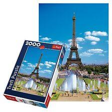 Trefl 2000 Piezas Adulto Grande Torre Eiffel, París Francia Rompecabezas De Piso Nuevo
