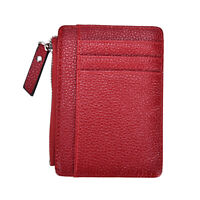 Wallet slim money clip credit card holder ID business mens Faux leather NT