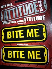 STREET SIGNS DECAL MAGNET BITE ME STICKER SAYING