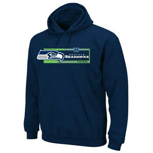 NFL Majestic Seattle Seahawks Men's Gameday Classic Pullover Hoodie Jacket