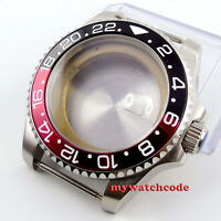 43mm sapphire glass red black bezel Watch Case fit ETA 2824 2836 MOVEMENT C49