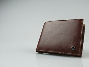 Zippo Brown Leather Passcase Wallet (130mm x 100mm) New in Box - L51099