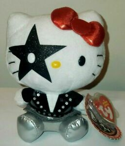 Ty Beanie Baby - HELLO KITTY STARCHILD (Paul Stanley) from Rock Band KISS NEW