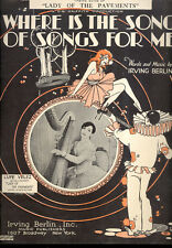 "LADY OF PAVEMENTS Sheet Music ""Where Is The Song Of Songs For Me"" Lupe Velez"
