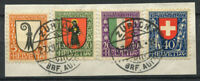 Switzerland 1923 Mi. 185-188 Used 100% Pro Juventute, Coat Of Arms