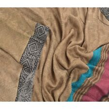 Sanskriti Vintage Dupatta Long Stole Woolen Green Shawl Printed Scarves Hijab