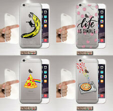 Cover per,Iphone,FRUTTA,TRASPARENTE,silicone,morbido,MUSICA,CARINO,COLORATO